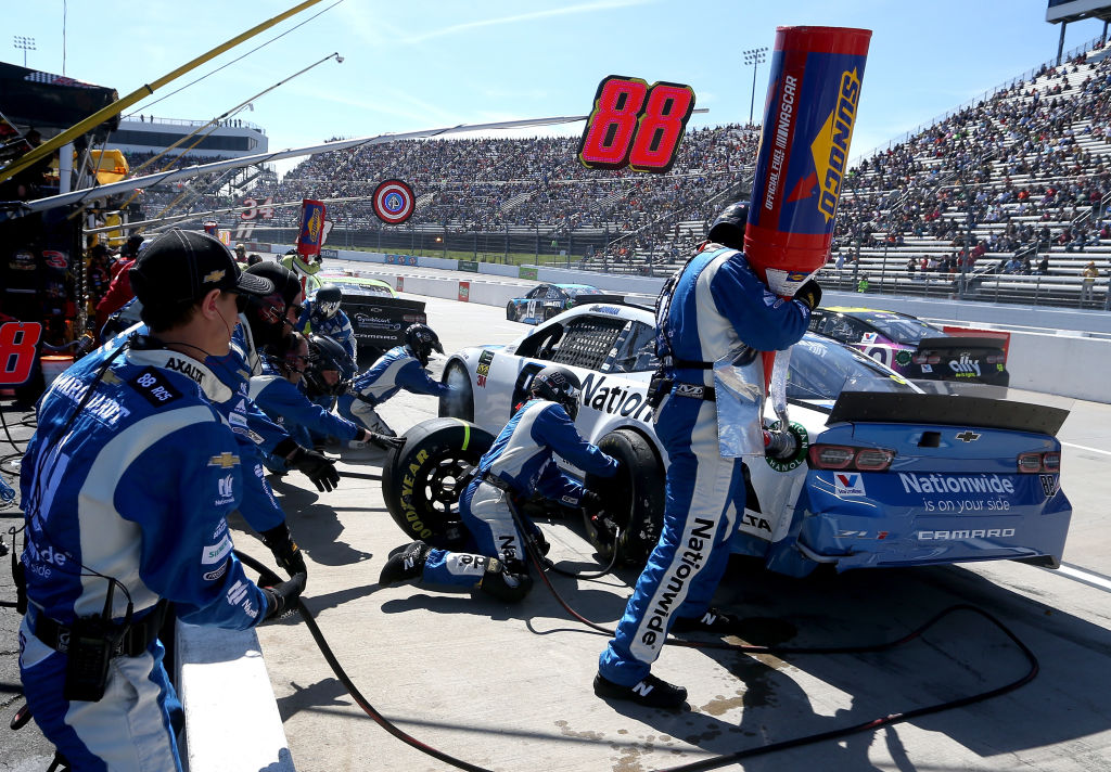 nascar pit crews analyze every move to shave time off stops
