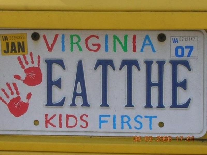 funny virginia license plate