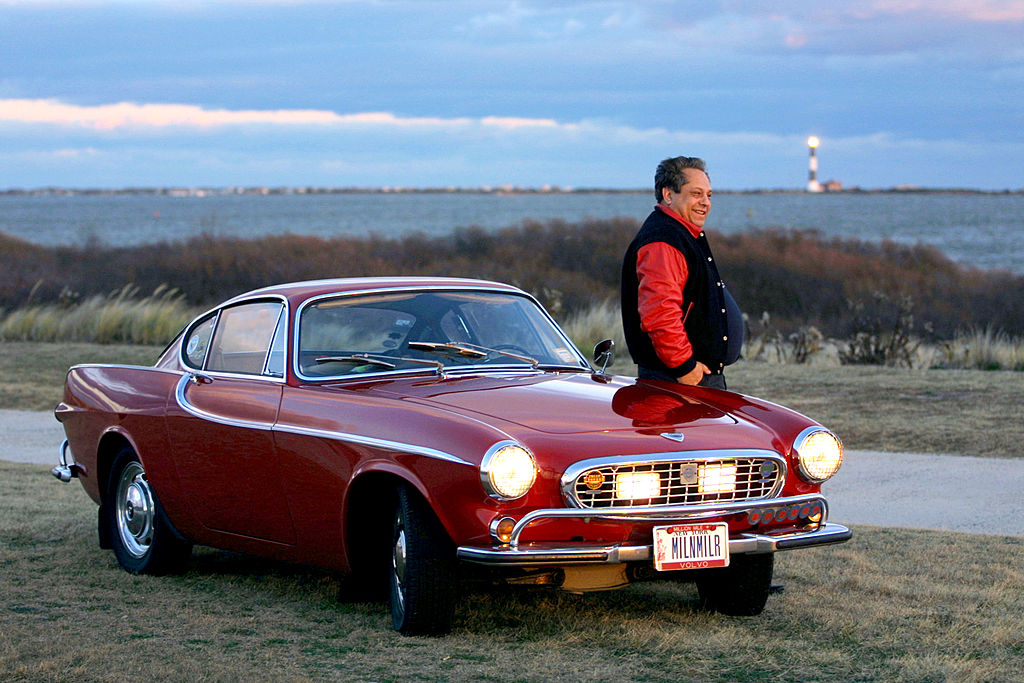 Irv Gordon Stands Next To His 1966 Volvo P1800 In This Undated Photo. Gordon Was Honored For Driving The Car Two Million Miles-51093780