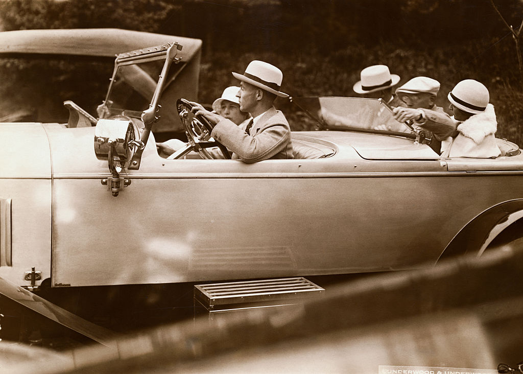 edsel ford driving a lincoln town car