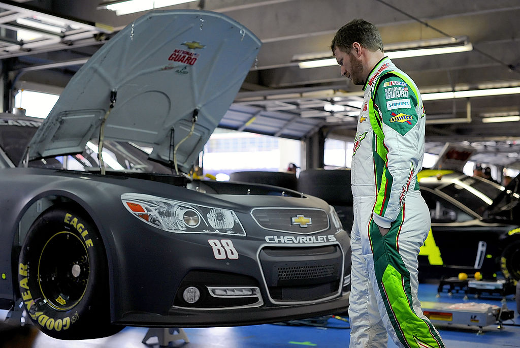 dale earnhardt jr was sidelined in 2012 with a concussion