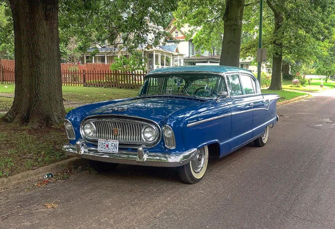 1956 Nash Ambassador art deco cars