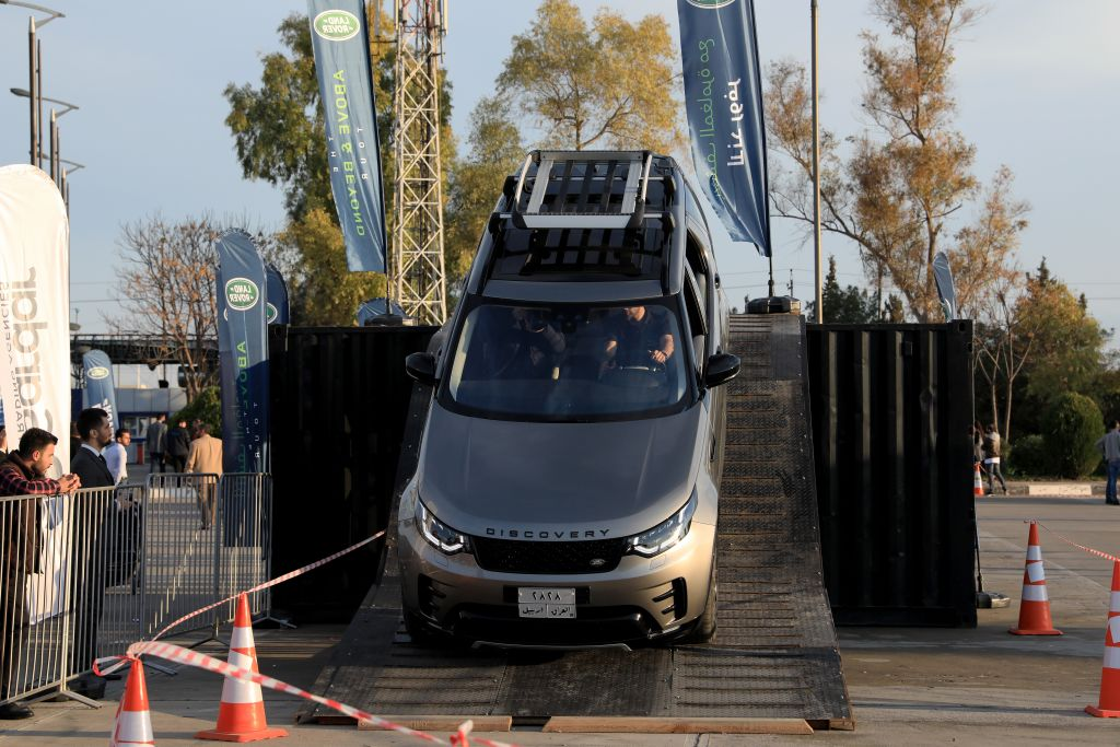 Land Rover Discovery is displayed at