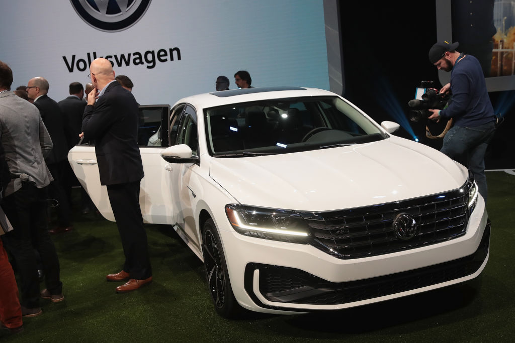 The 2020 Volkswagen Passat is displayed at the North American International Auto Show