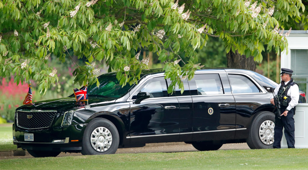 a cadillac turned into a limo for the president