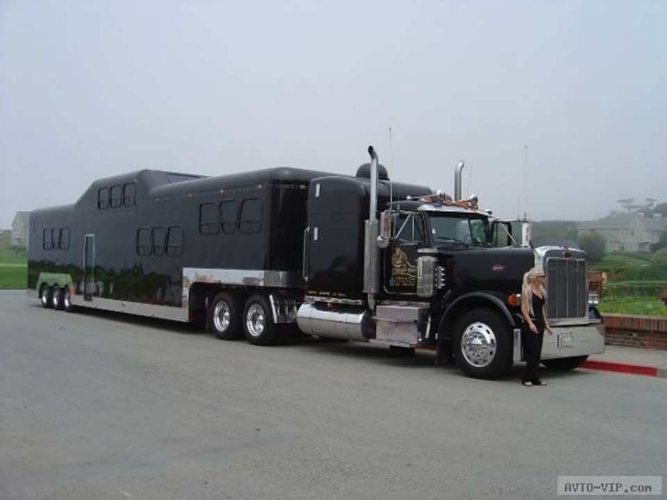 a big rig turned into a limo