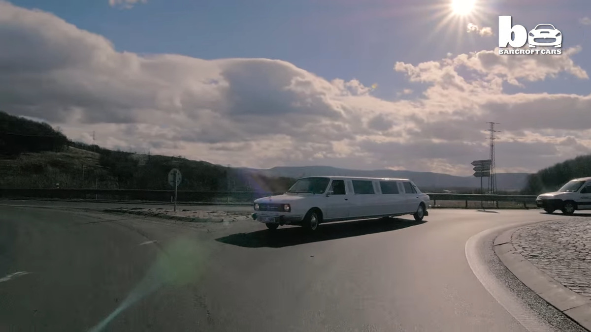 a skoda octavia turned into a limo