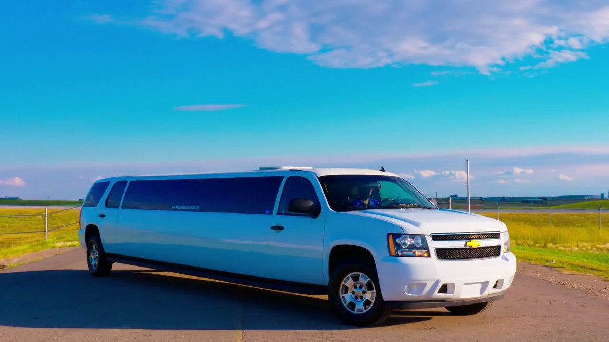 a chevy suburban turned into a limo