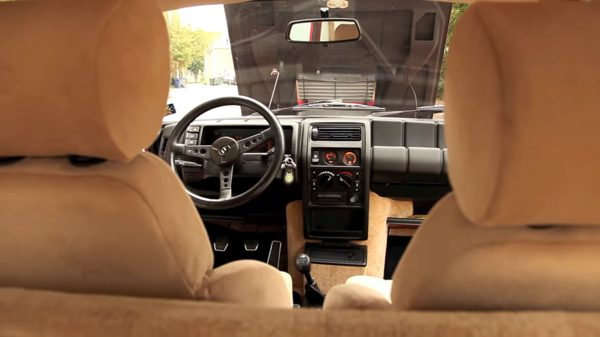 the interior of a 1985 renault 5