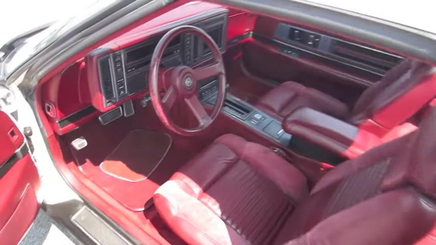 interior of a buick reatta