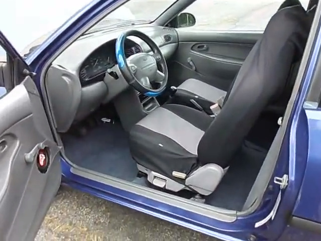 interior of a ford aspire