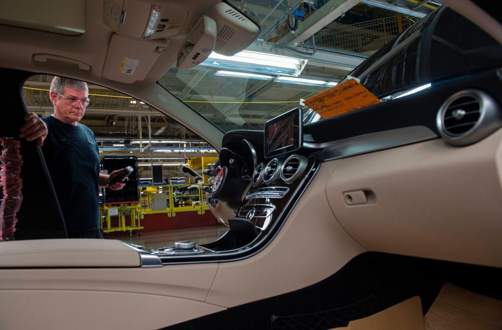 interior of a mercedes c class