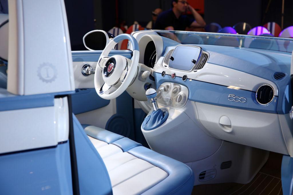 interior of a fiat 500