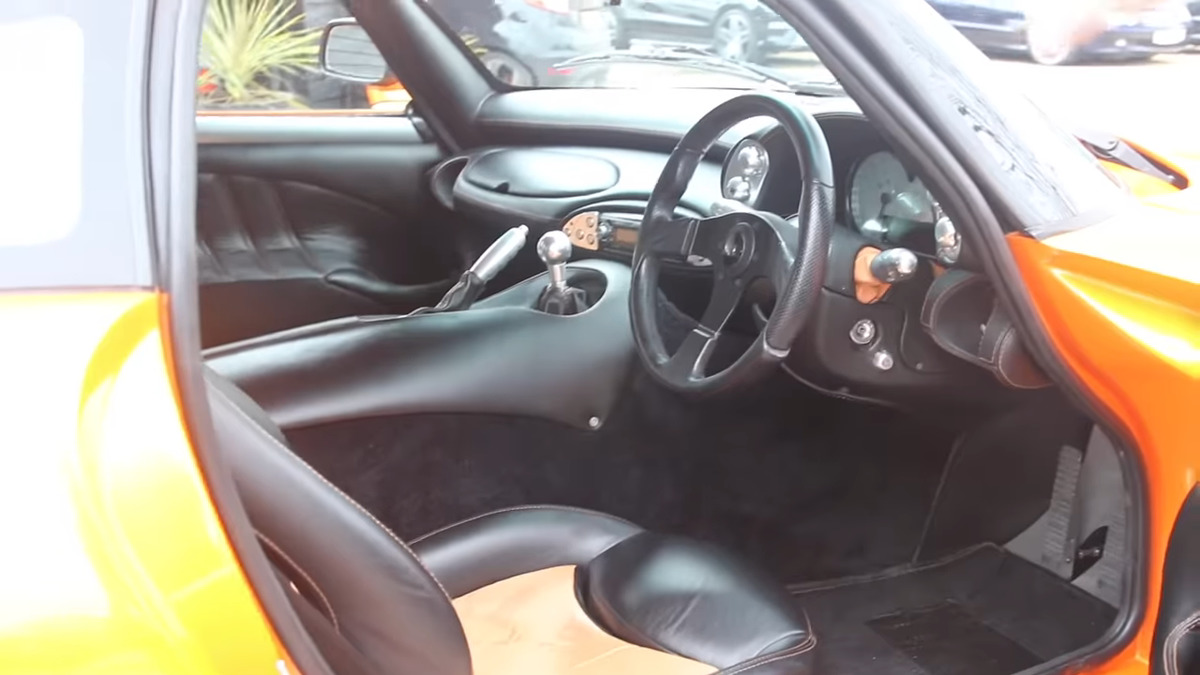 the interior of the tvr sagaris