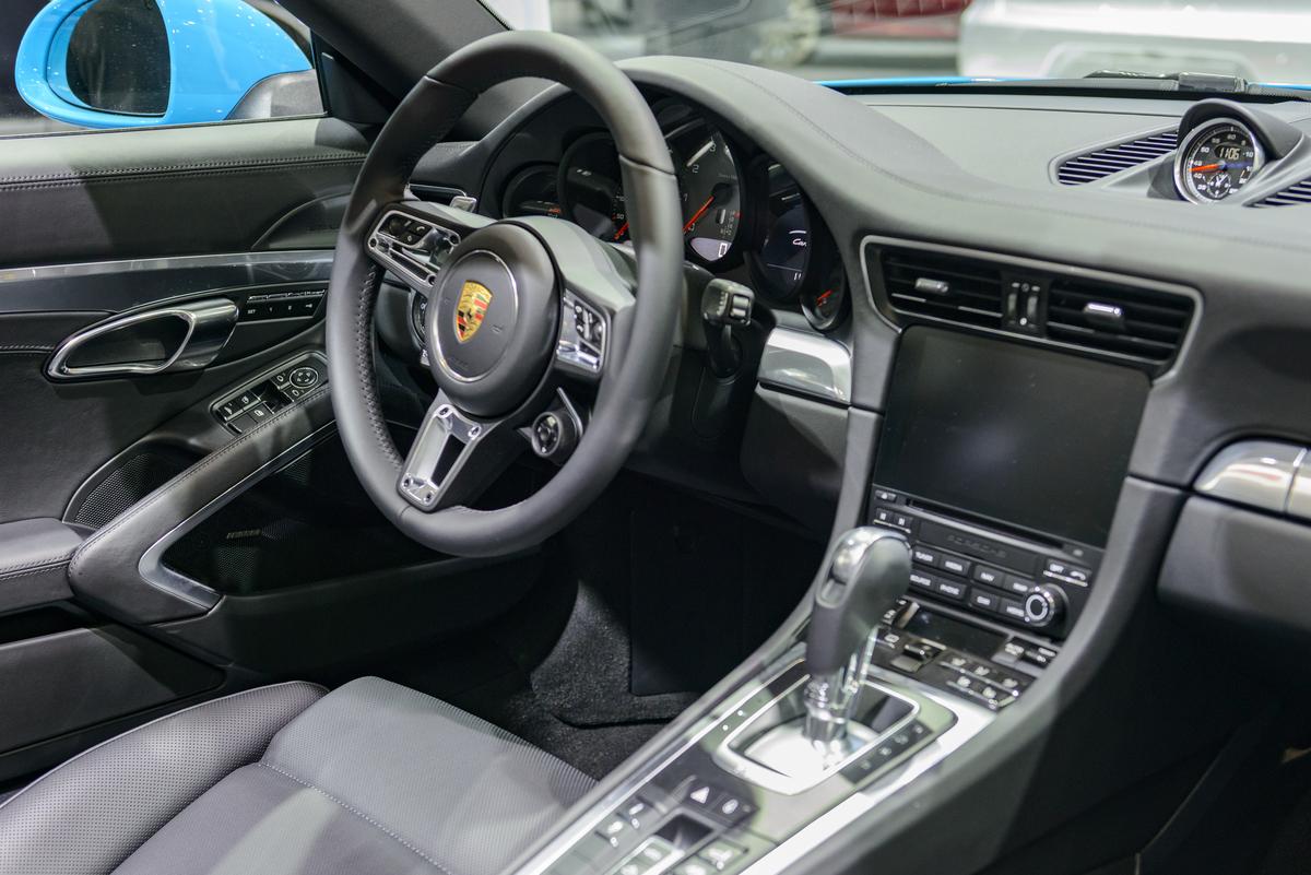 Interior on a Porsche 911 Cabriolet