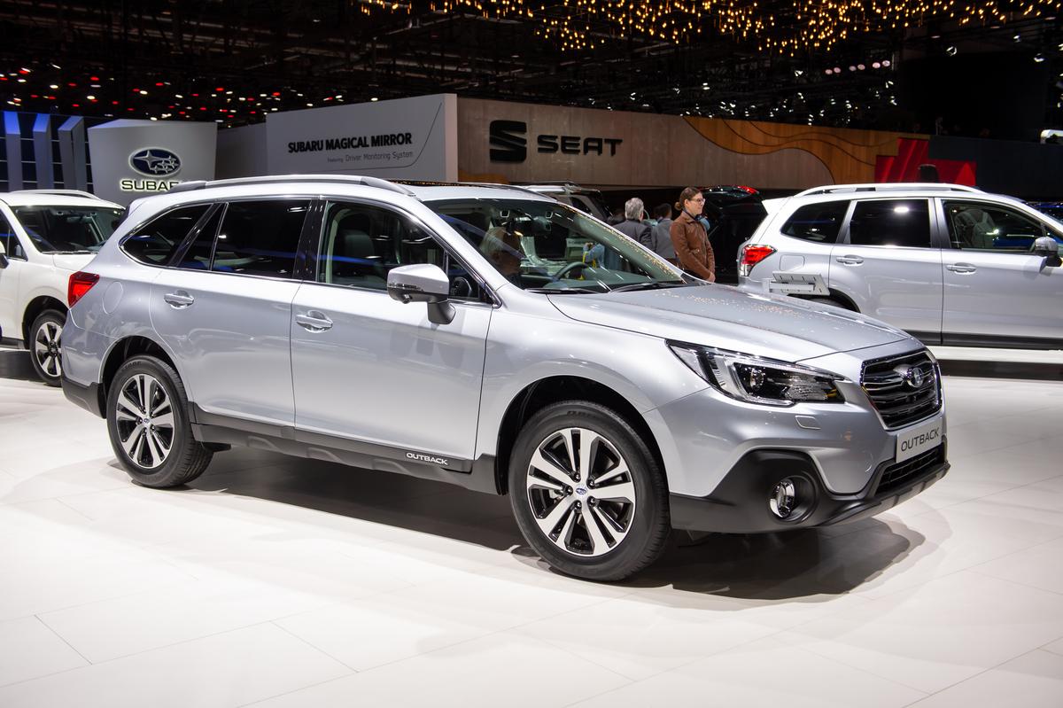 Subaru Outback is displayed