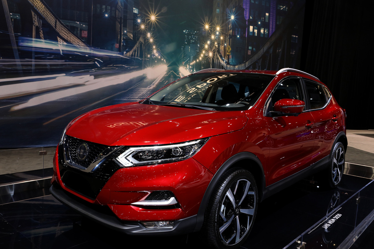 2020 Nissan Rogue Sport is on display