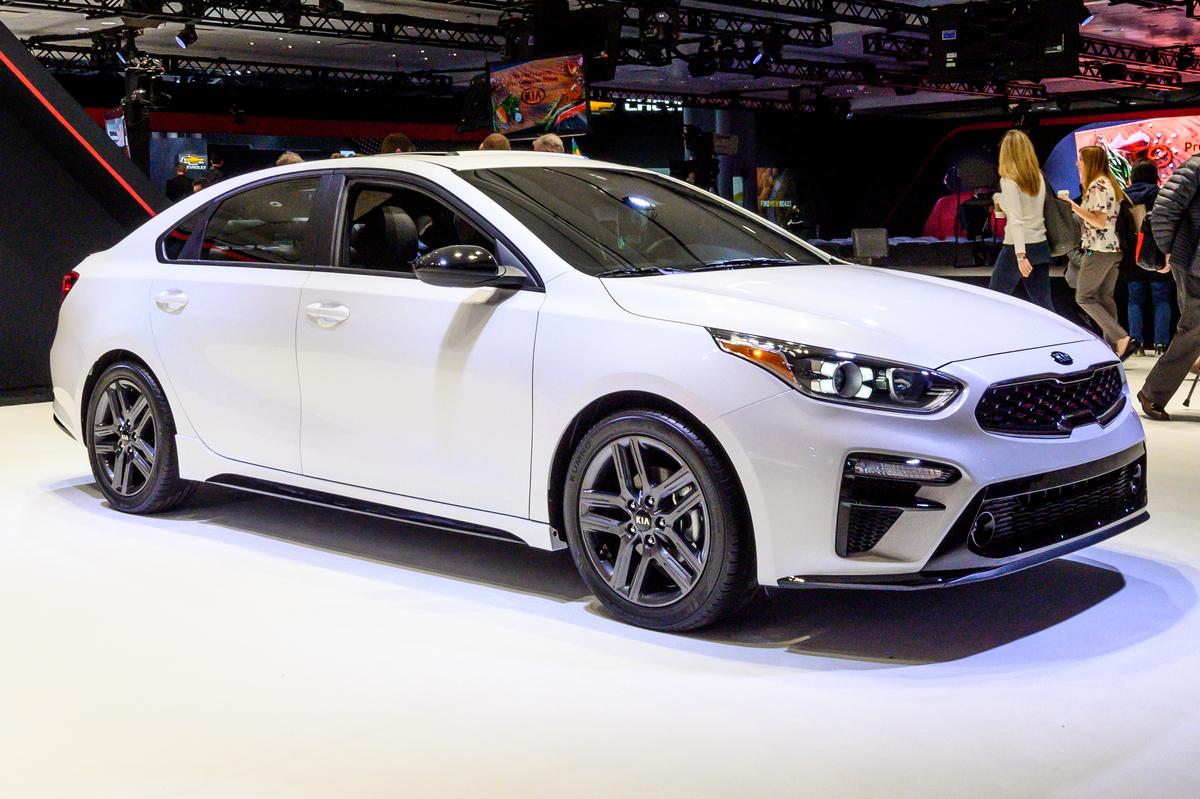 Kia Forte seen at the New York International Auto Show