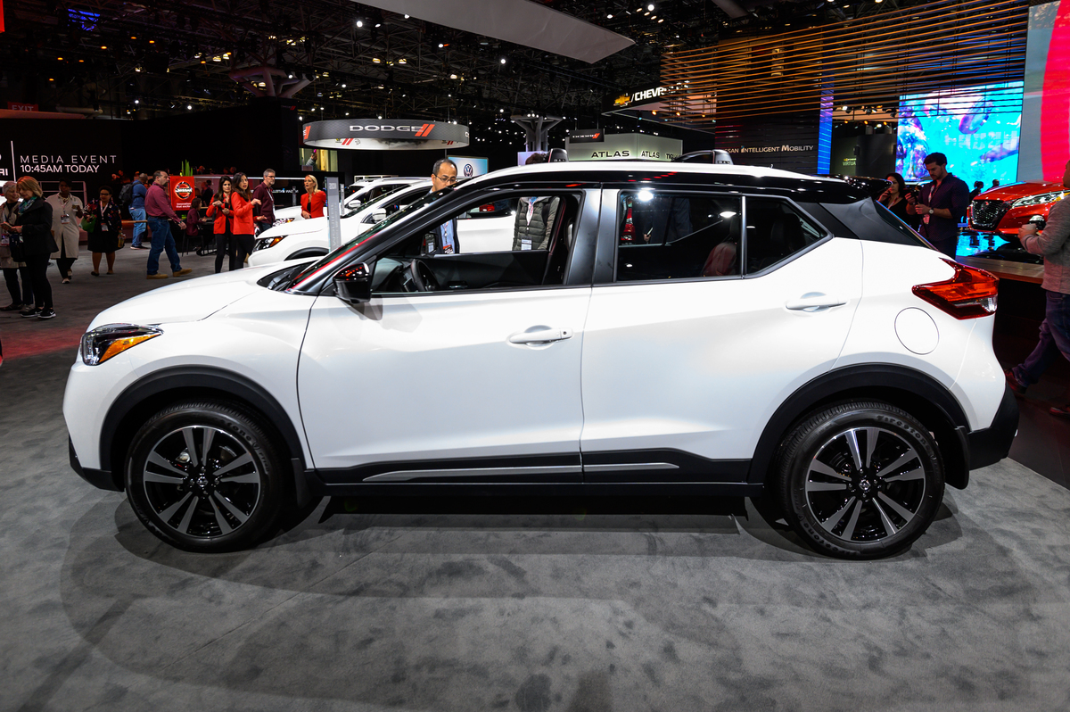 Nissan Kicks seen at the New York International Auto Show