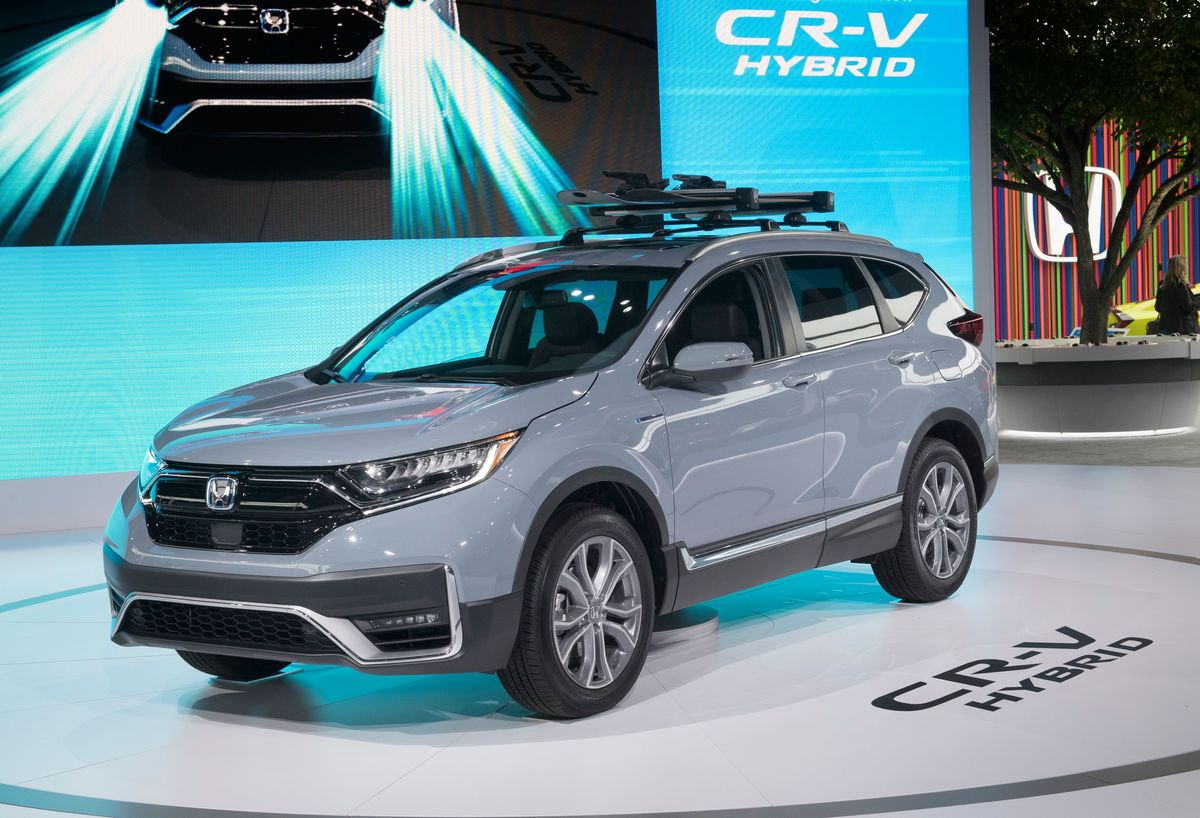 The 2020 Honda CR-V Hybrid that has been named the 2020 Green SUV of the Year