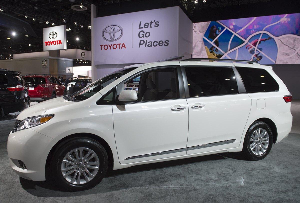 2017 Toyota Sienna minivan is seen during the 2017 North American International Auto Show