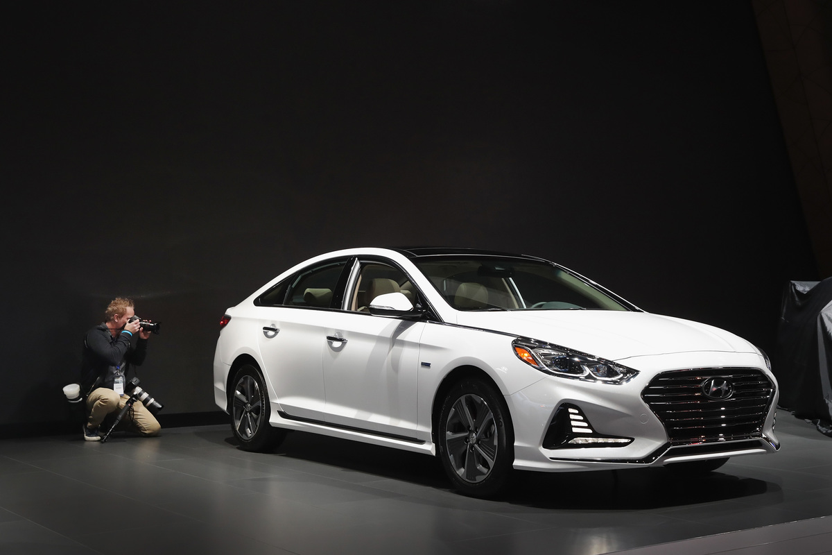 Hyundai Motor Company shows off a 2019 Sonata Hybrid