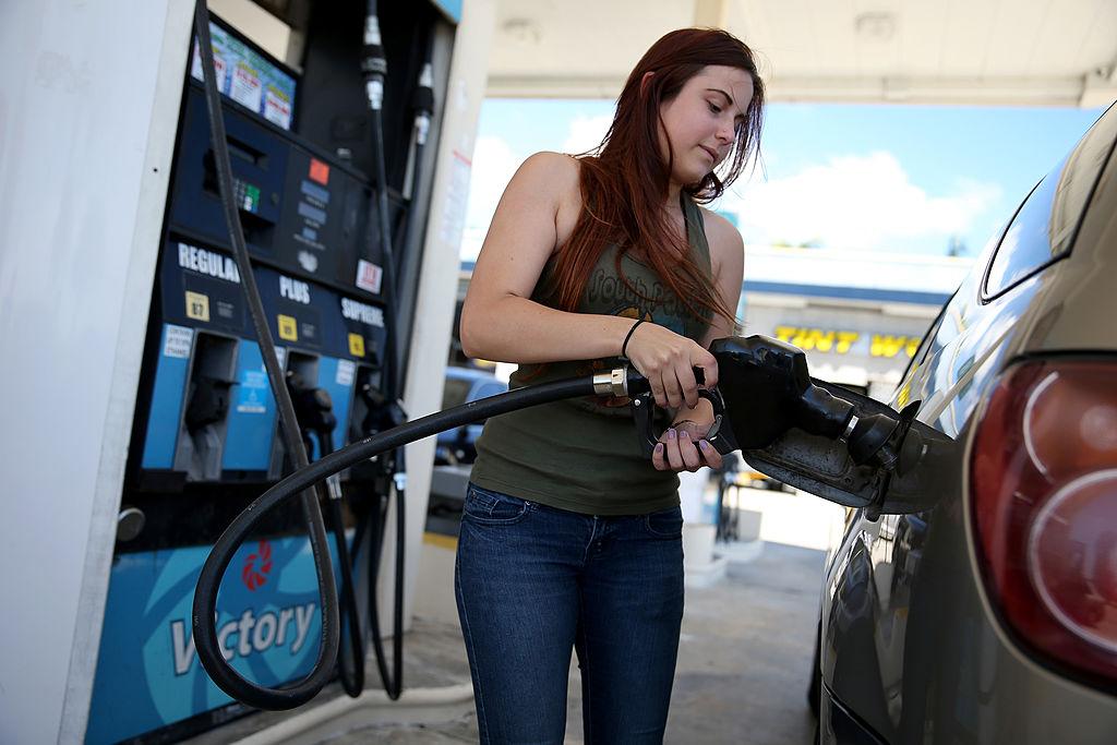 Gabrielle Smith pumps gas