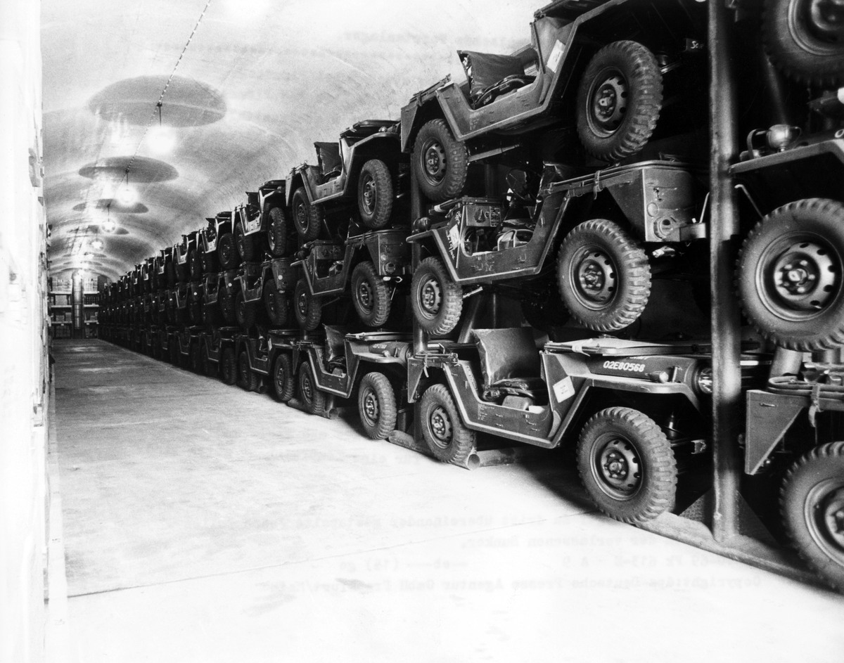 Nazi bunker become depot of the US Army