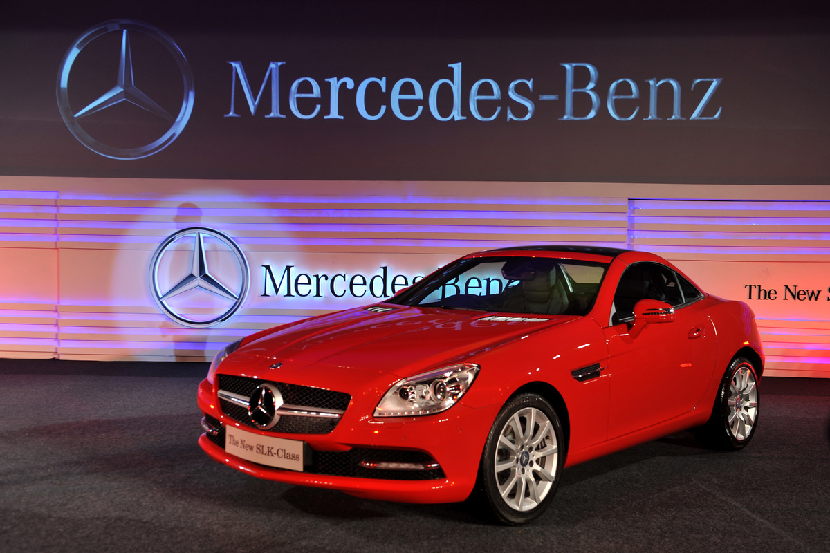 Newly launched SLK 350 Mercedes-Benz is