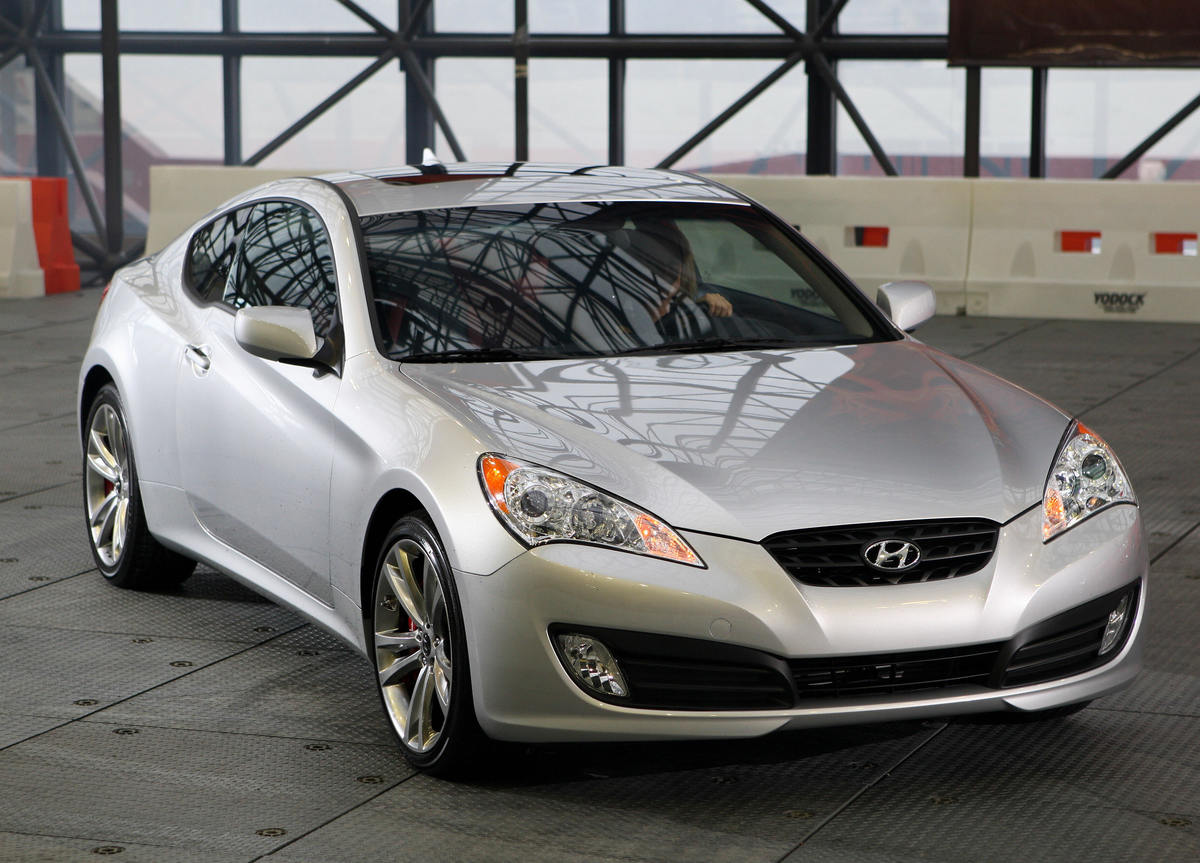 The 2009 Hyundai Genesis Coupe during a