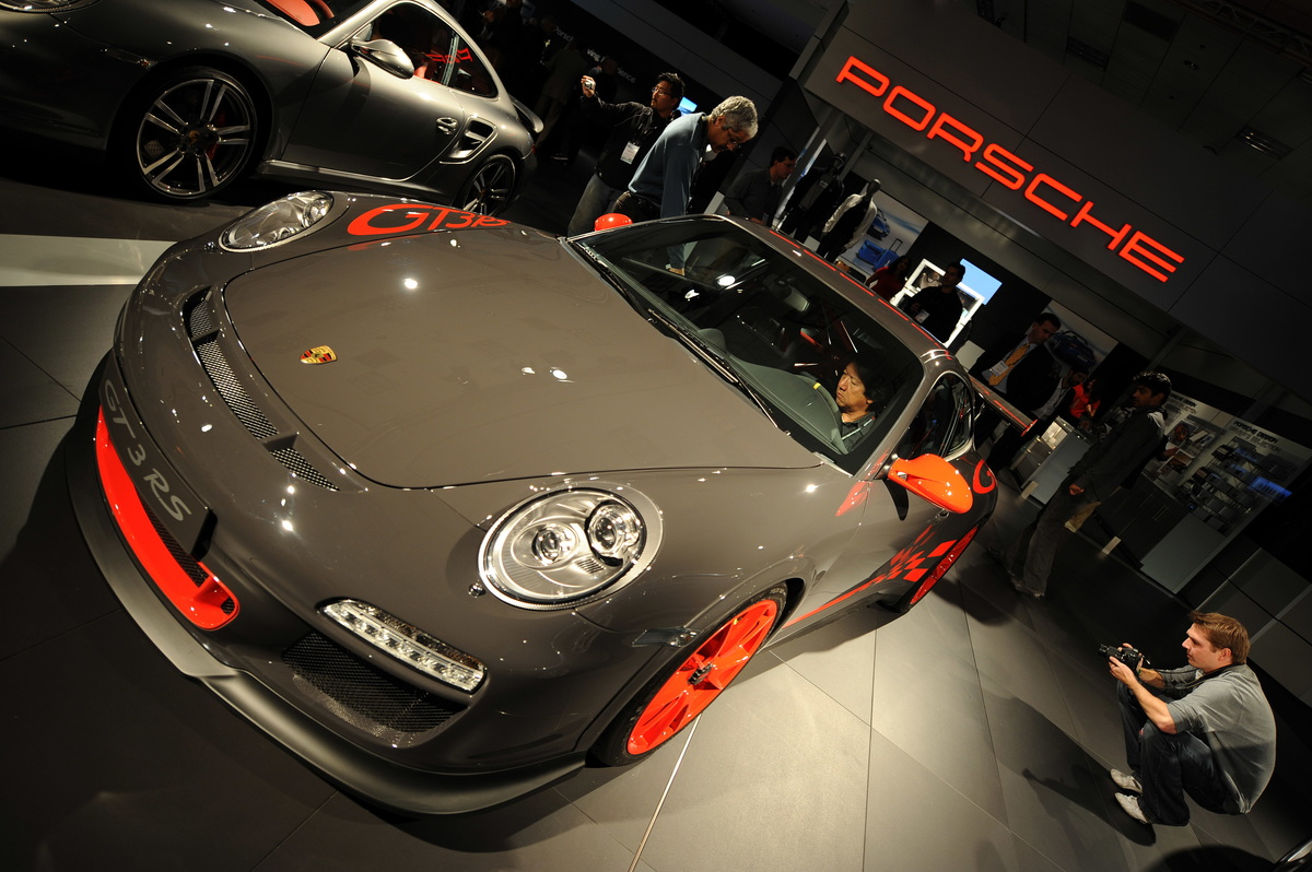 The new Porsche 911 GT3 RS is displayed