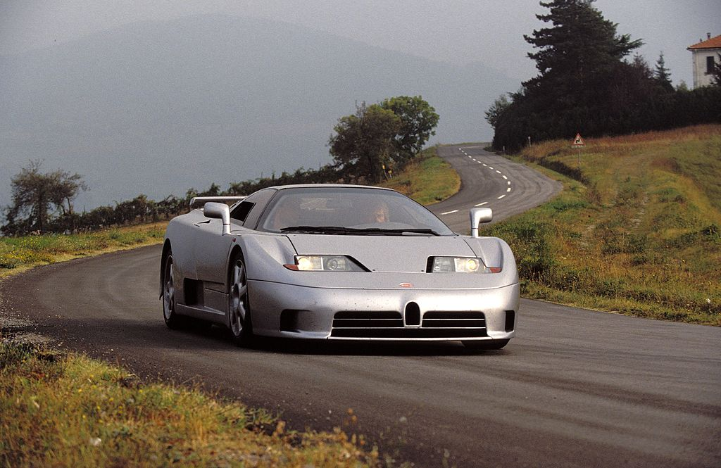 Bugatti EB110 Super Sport near Parma in Italy