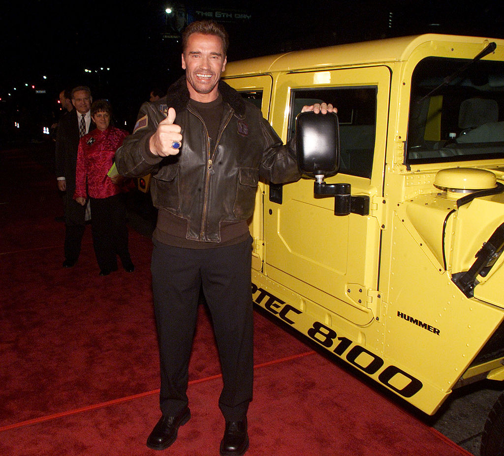 arnold with a hummer