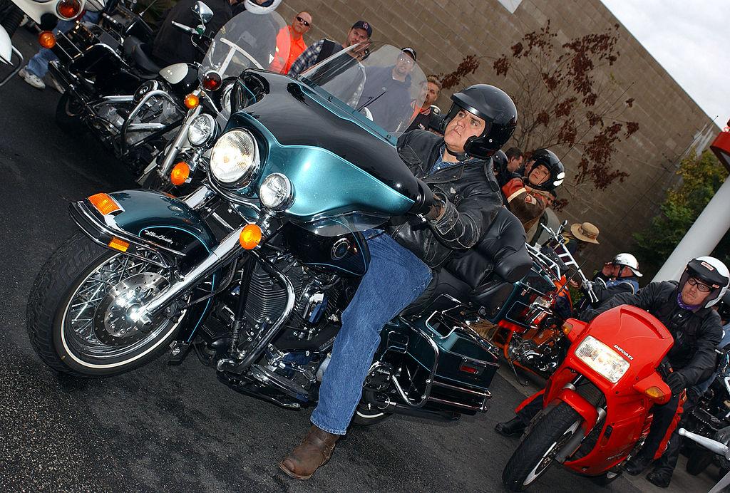 Leno on a bike in California
