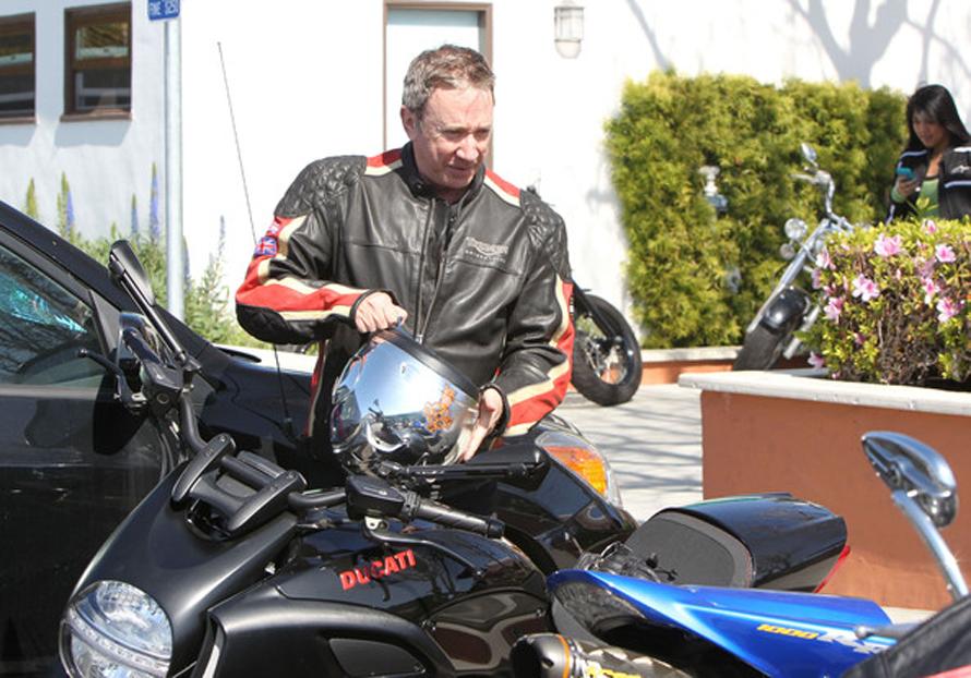 Allen and his Ducati