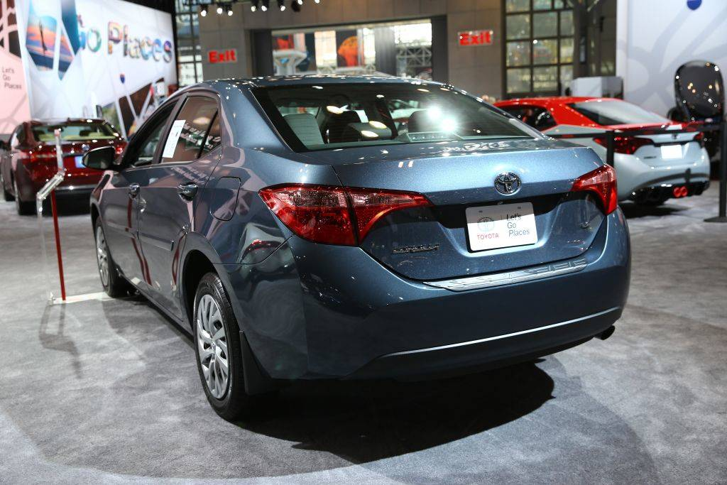Toyota Corolla is displayed at the New York International Auto Show
