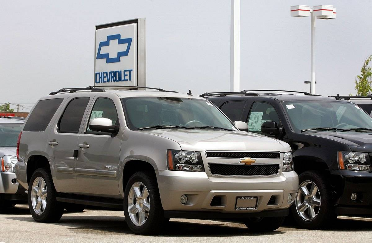 Chevrolet Tahoe at a dealership