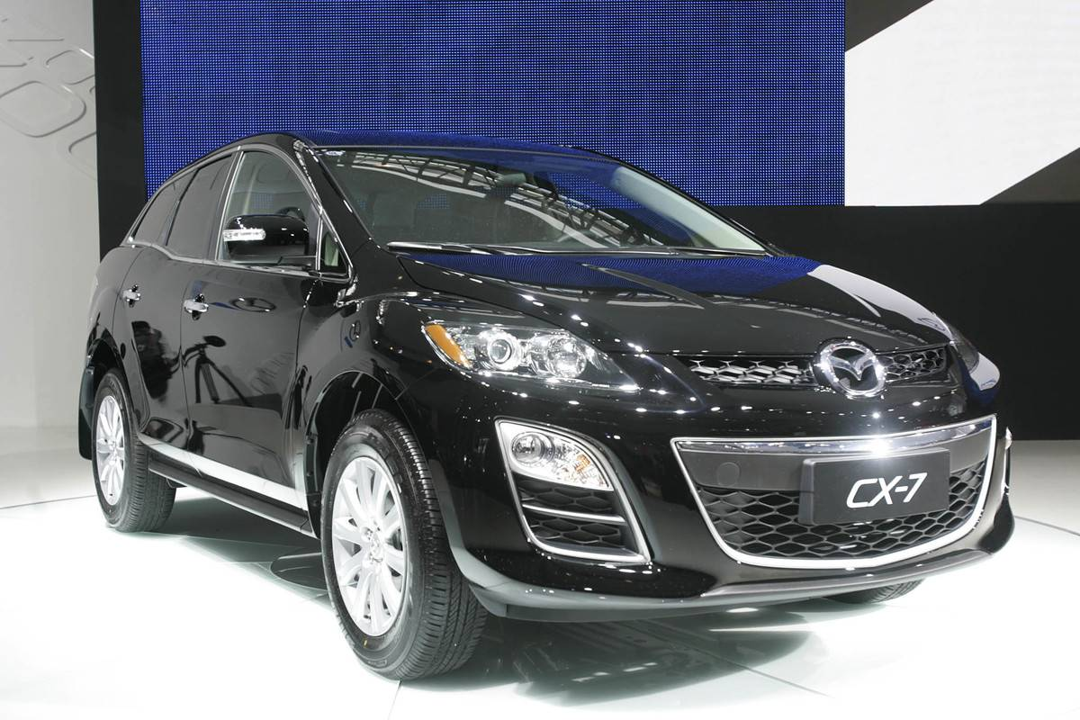 Mazda CX-7 on display