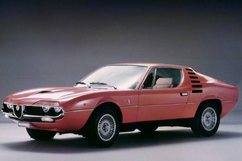 Studio image of an Alfa Romeo Montreal sports coupe car, UK, 15th October 1970.