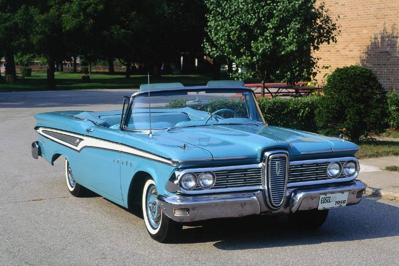 ford edsel in a driveway