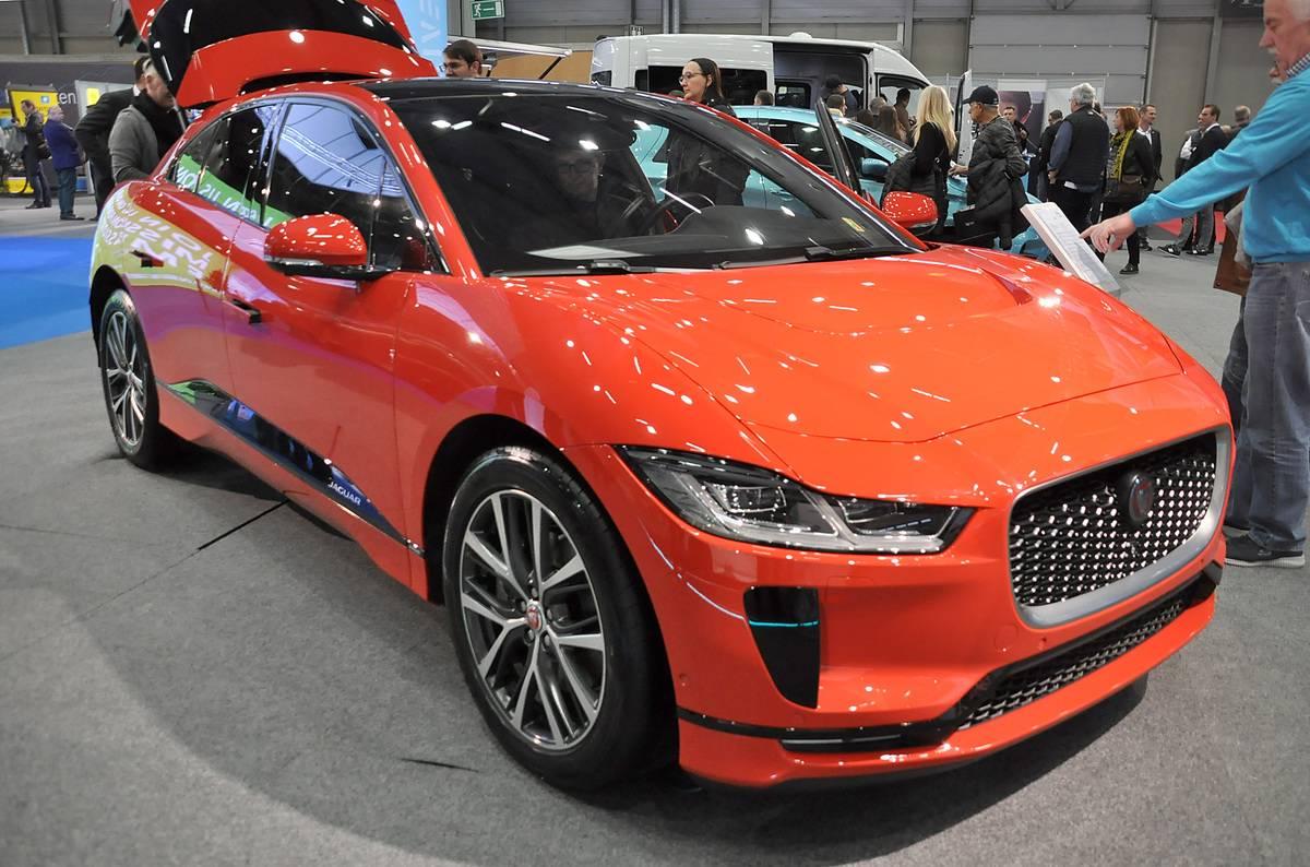 jaguar f pace on display