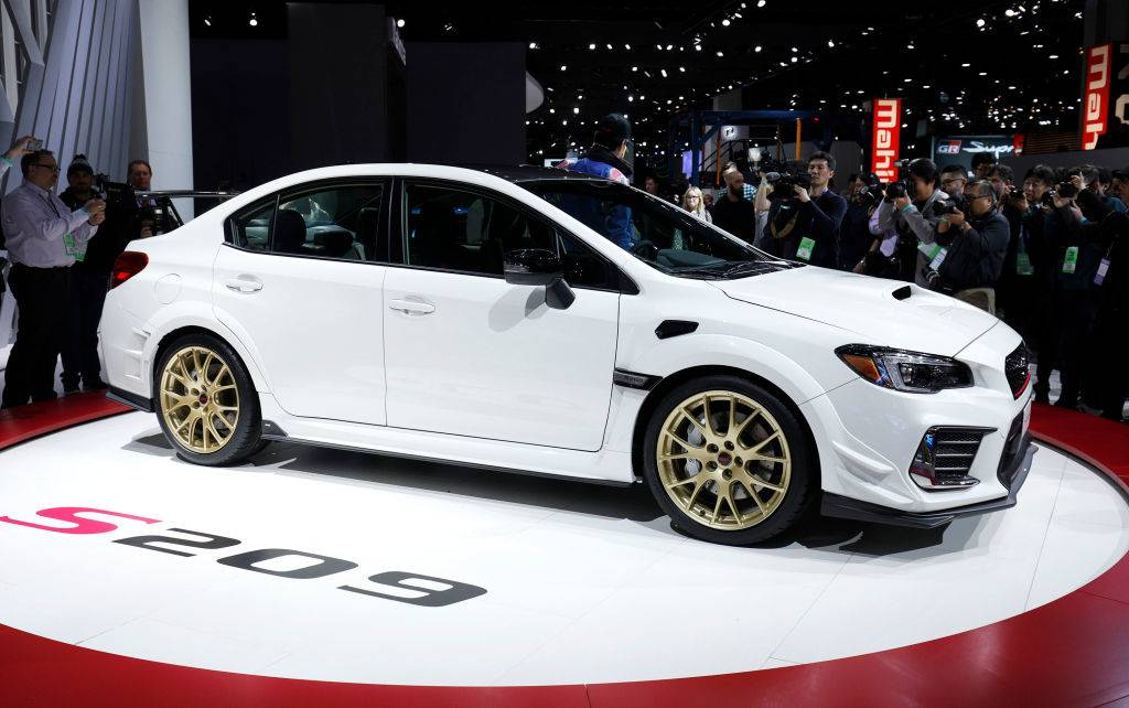subaru wrx on display