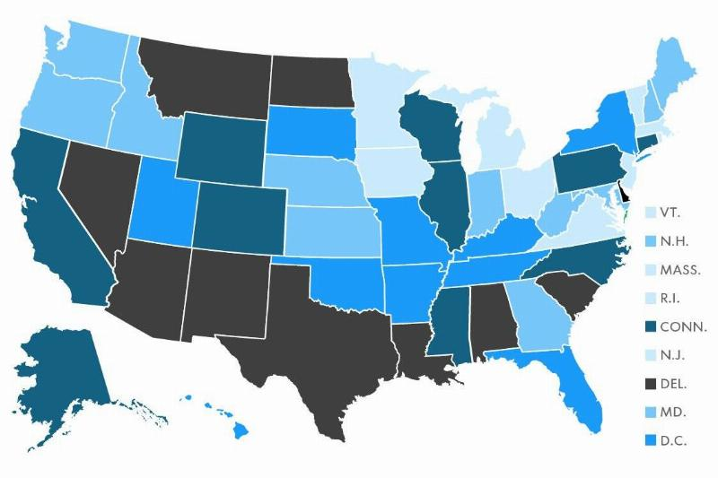 A map highlights the worst U.S. states to drive in.