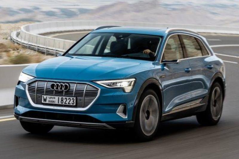 Antigua Blue Audi e-tron