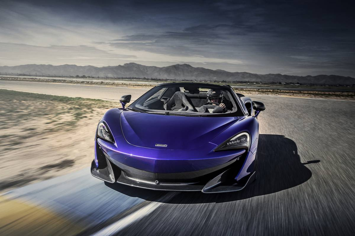 Lantana Purple Gives The McLaren 600LT Spider Some Edge