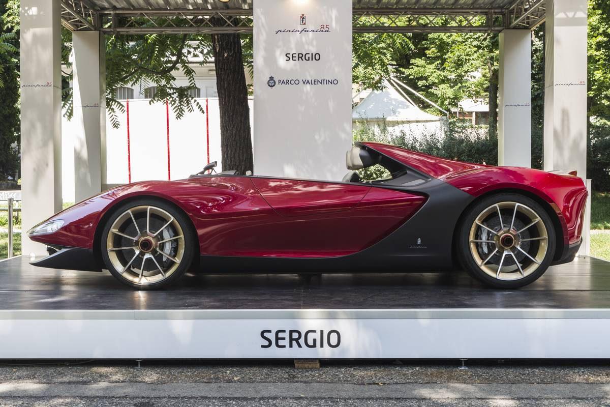Side view of prototype car Ferrari Sergio by Pininfarina.