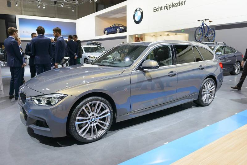 The BMW 3 Series Sports Wagon is on display in the Brussels Expo.