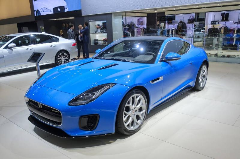 The Jaguar F-Type is on display at the Brussels Expo.
