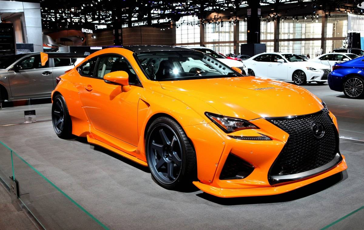 The 2016 Lexus RC F is on display.
