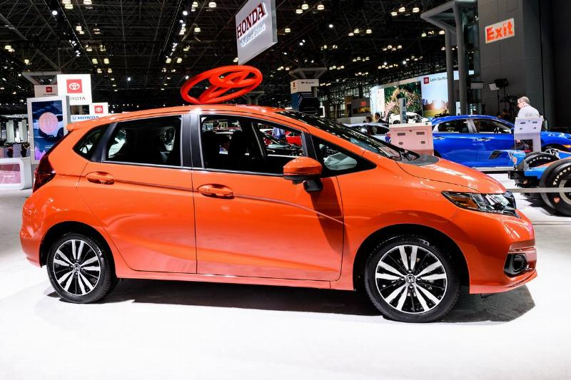 Honda Fit seen at the New York International Auto Show at...
